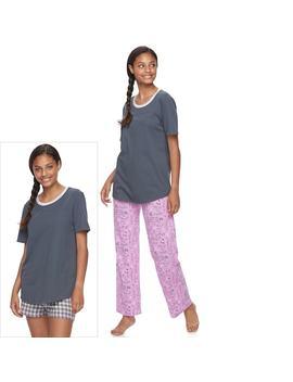Juniors' So® Pajamas: Knit Pants, Shorts &Amp; Short Sleeve Top 3 Piece Pj Set by Juniors' So