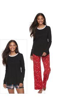 Juniors' So® Pajamas: Knit Pants, Shorts &Amp; Top 3 Piece Pj Set by Juniors' So