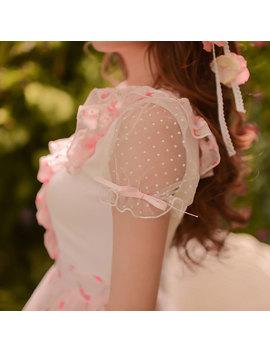 Princess Sweet Lolita Dress Candy Rain Summer Japanese Style Sweet Condole Belt Floral Patchwork Chiffon Dress C15 Ab5768 by Loliloli Shop For Lolita Princess