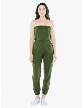 Fine Jersey Strapless Jumpsuit by American Apparel