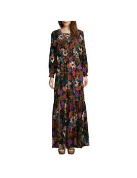 Weslee Rose Long Sleeve Floral Maxi Dress by Weslee Rose