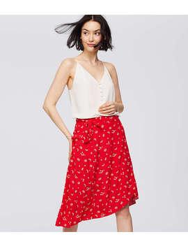 Floral Midi Wrap Skirt by Loft