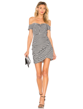 Roselyn Gingham Off Shoulder Dress by By The Way.
