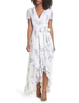 The Natasha Floral Wrap Maxi Dress by Wayf