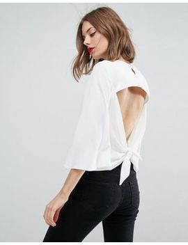 Asos Tee With Open Knot Back by Asos Collection