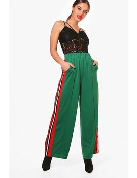 Petite Lola Woven Slouchy Track Pant by Boohoo