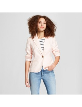 Women's Linen Blazer   A New Day™ Light Pink 4 by A New Day™