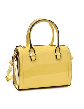 New Women Leather Handbag Mini Barrel Satchel Tote Shopper Shoulder Bag Purse by Dasein