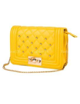 Fashion Women's Leather Clutch Handbag Shoulder Bag Purse Satchel Wallet Chain by Fashion Ts