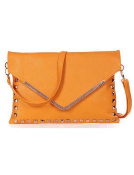 Magik Womens Rivets Evening Clutch Handbag Shoulder Chain Envelope Bag Purse by Magik