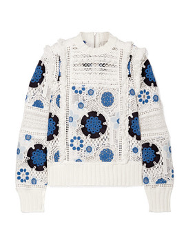 Figgy Crocheted Cotton Sweater by Sea