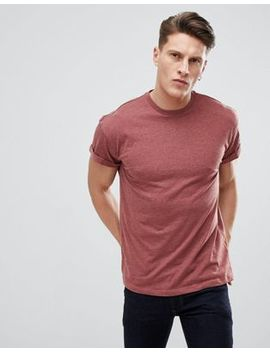New Look T Shirt With Roll Sleeve In Red by New Look