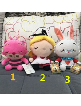 3pcs/Set Cheshire Cat Alice In Wonderland Stuffed White Rabbit Plush Toy Doll by Ebay Seller