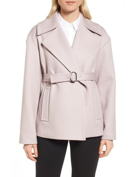 Oversize Belted Wool Coat by Lewit