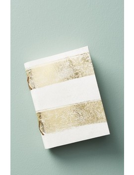 Gilded Leather Journal by Anthropologie