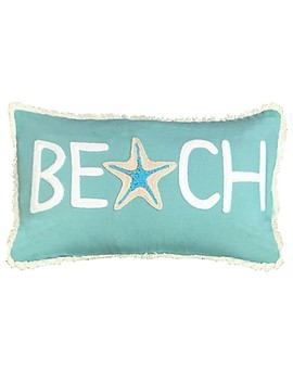 Beach Oblong Throw Pillow In Capri Blue by Bed Bath And Beyond