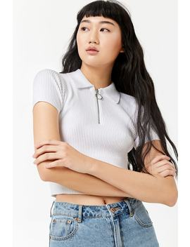 Pull Ring Zip Top by F21 Contemporary