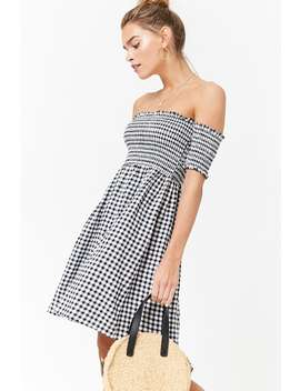 Smocked Swing Dress by F21 Contemporary
