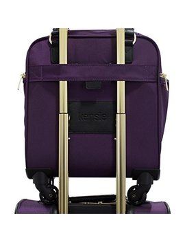 "Kensie 16"" Under Plane Seat Luggage Tote, Purple With Gold Color Option by Kensie"