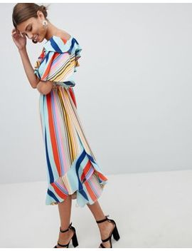 Boohoo Bold Stripe Midi Dress by Boohoo