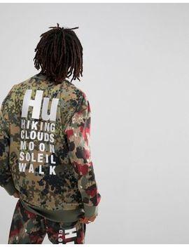 Adidas Originals X Pharrell Williams Hu Hiking Sweat With Back Print In Green Cy7863 by Adidas Originals