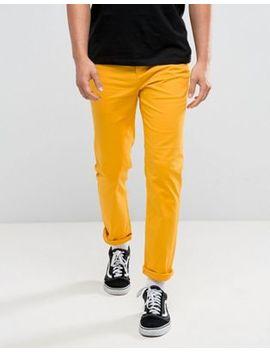 Asos Slim Chinos In Yellow by Asos