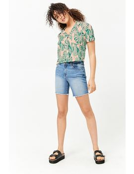 Banana Leaf Print Shirt by Forever 21