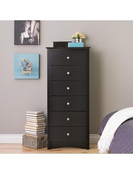 Monterey Tall 6 Drawer Dresser, Multiple Colors by Prepac
