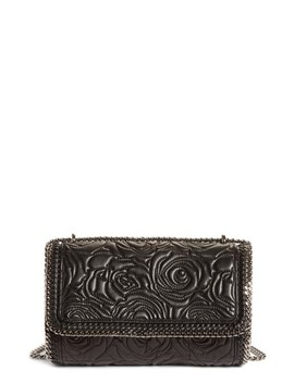 Quilted Flowers Faux Leather Crossbody Bag by Stella Mccartney