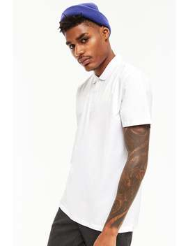 Knit Polo Shirt by F21 Contemporary