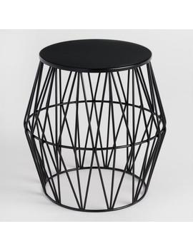 Black Octavia Faceted Outdoor Stool by World Market
