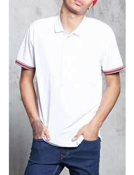 Stripe Trim Polo Shirt by F21 Contemporary