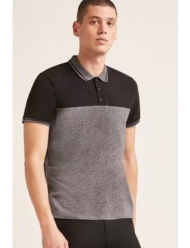 Marled Colorblock Polo by F21 Contemporary
