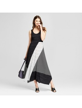 Women's Multi Stripe Knit Midi Dress   Spenser Jeremy   Black/White by Spenser Jeremy