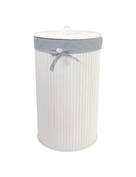 Redmon Round Bamboo Hamper With Laundry Bag by Redmon