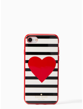 Heart Stripe I Phone 7 & 8 Case by Kate Spade