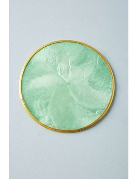Pearlized Capiz Coaster by Anthropologie