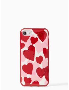 Jeweled Heart I Phone 7 & 8 Case by Kate Spade