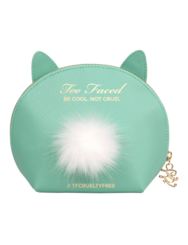 Teal Cool Not Cruel Bunny Makeup Bag by Too Faced