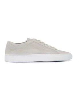 Grey Suede Original Achilles Low Sneakers by Woman By Common Projects