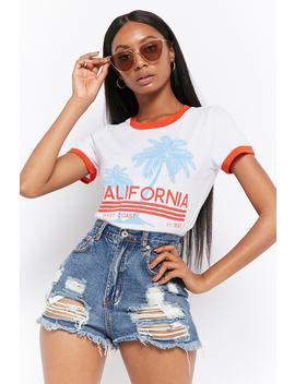 California Graphic Ringer Tee by Forever 21