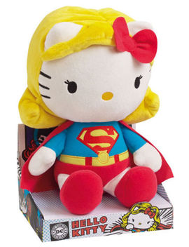 "Hello Kitty X Dc Comics Supergirl 10.5"" Plush Jemini Official French Exclusive by Ebay Seller"