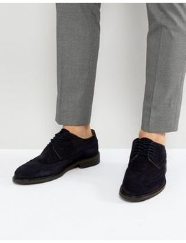 Selected Homme Suede Brogue Shoes by Selected Homme