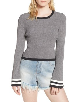 Bell Sleeve Crop Sweater by Caara
