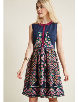 A Conversation Masterpiece A Line Dress In Midnight A Conversation Masterpiece A Line Dress In Midnight by Modcloth