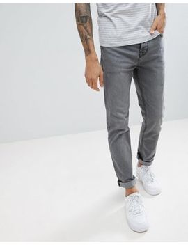 Pull&Bear Slim Fit Jeans In Dark Gray by Pull&Bear