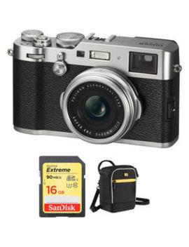 X100 F Digital Cameras With Free Accessory Kit (Silver) by Fujifilm