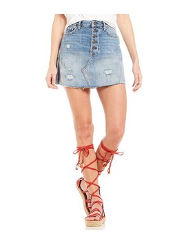 Free People A Line Denim Skirt by Free People
