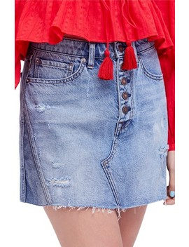 A Line Denim Skirt by Free People