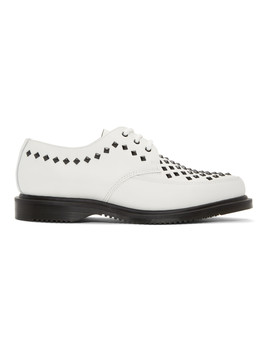 White Studded Willis Creepers by Dr. Martens